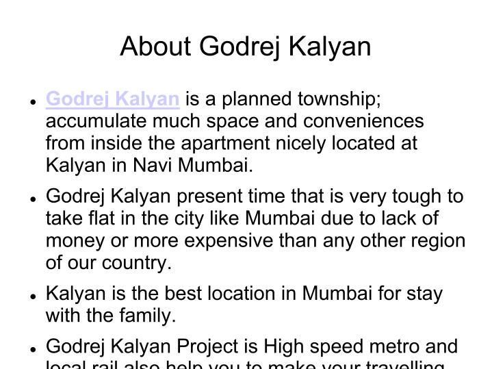 About Godrej Kalyan