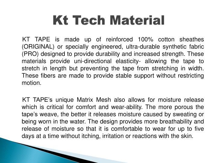 Kt Tech Material