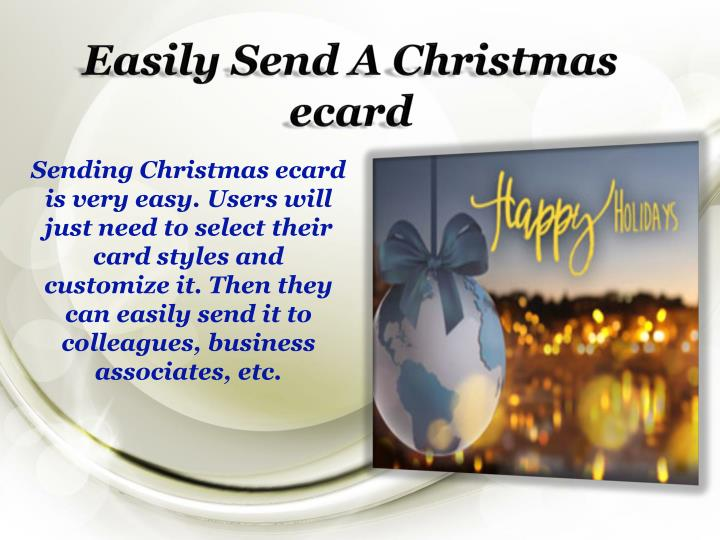 Easily Send A Christmas ecard