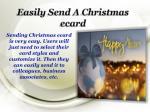 easily send a christmas ecard