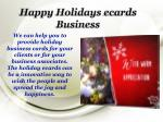 happy holidays ecards business