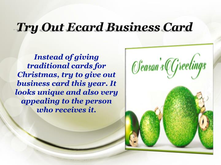 Try out ecard business card