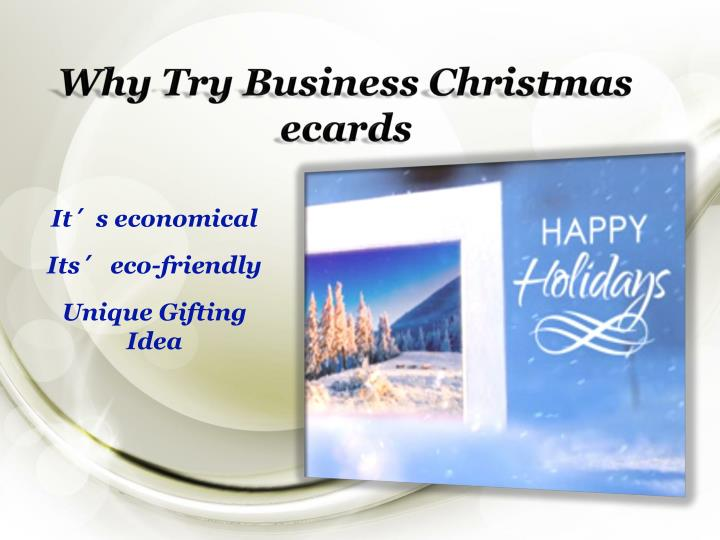 Why Try Business Christmas ecards