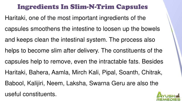 Ingredients In Slim-N-Trim