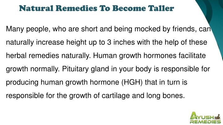 Natural Remedies To Become Taller