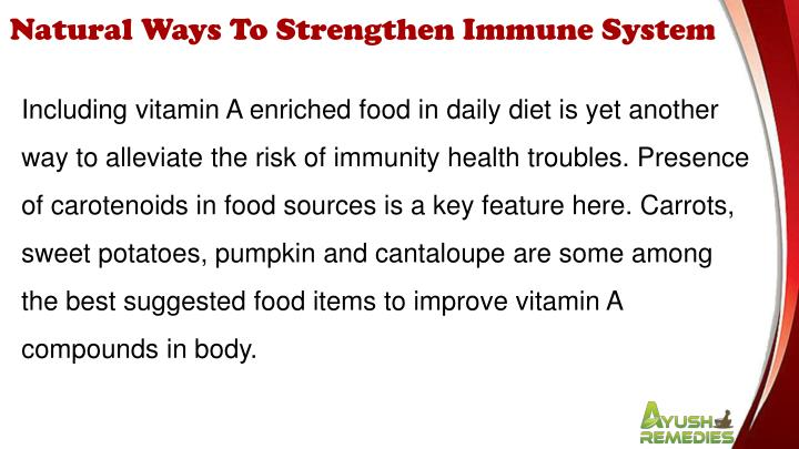 Natural Ways To Strengthen Immune System