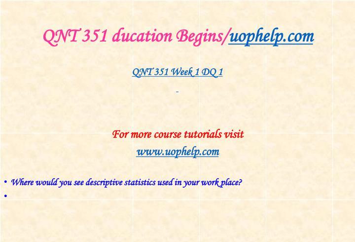 QNT 351