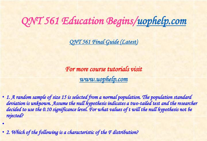 Qnt 561 education begins uophelp com2
