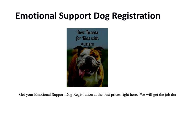 Emotional Support Dog Registration