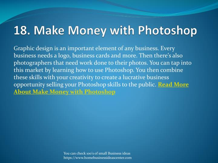 18. Make Money with Photoshop