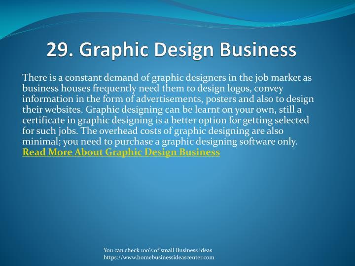 29. Graphic Design Business