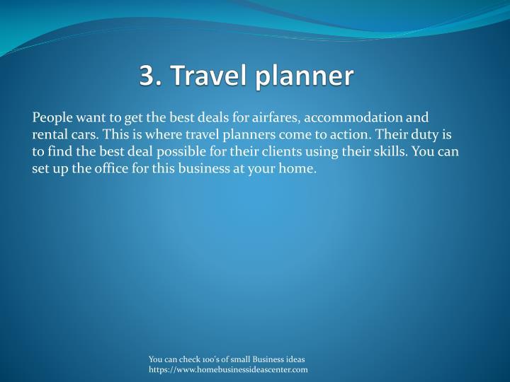 3. Travel planner