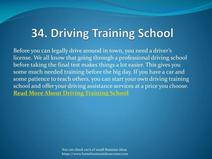 34. Driving Training School