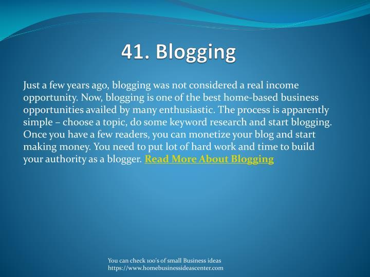 41. Blogging