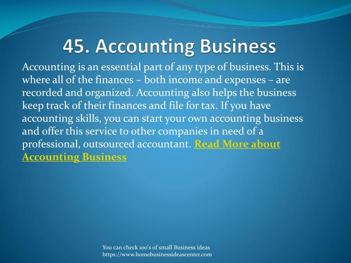 45. Accounting Business