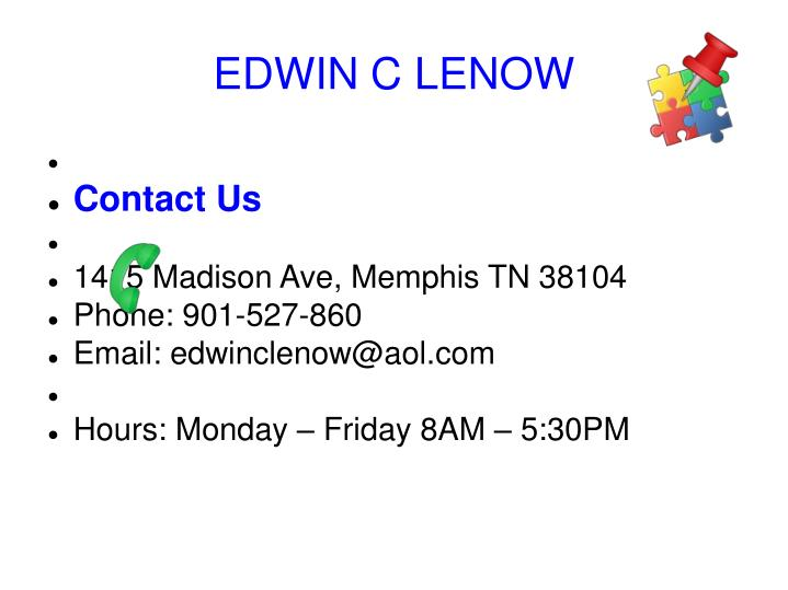EDWIN C LENOW