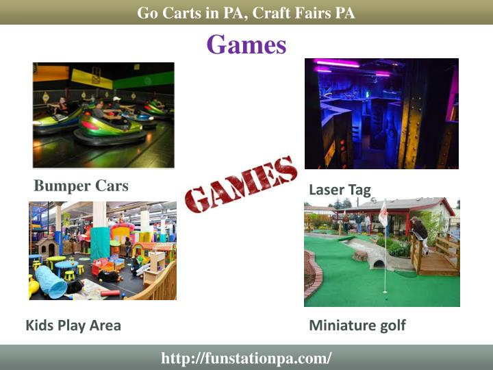 Go Carts in PA, Craft Fairs PA