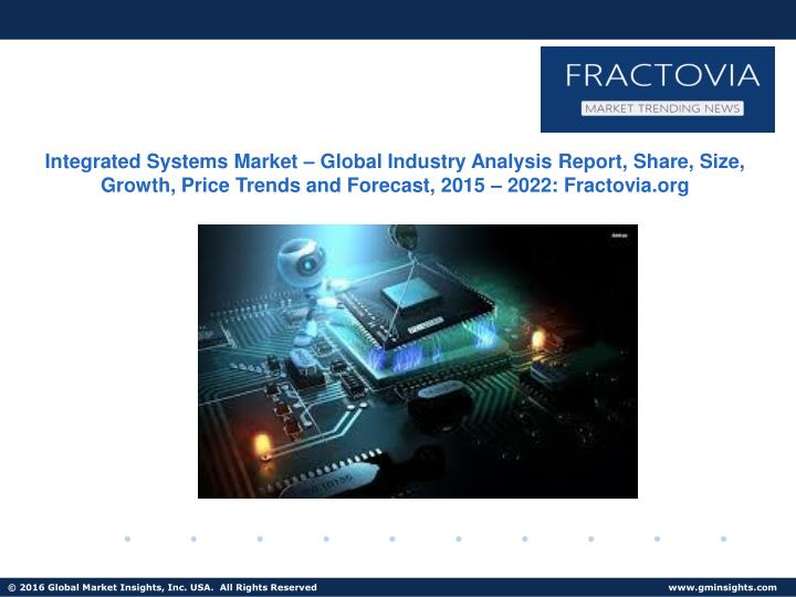 Integrated Systems Market – Global Industry Analysis Report, Share, Size, Growth, Price Trends and...
