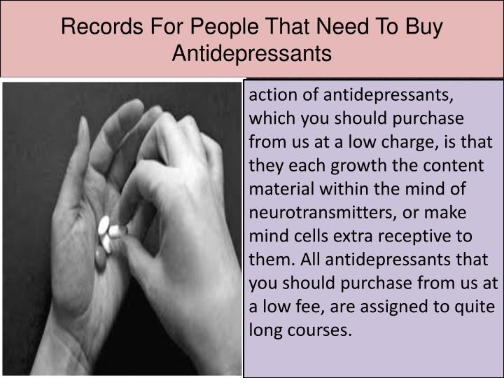Records For People That Need To Buy Antidepressants