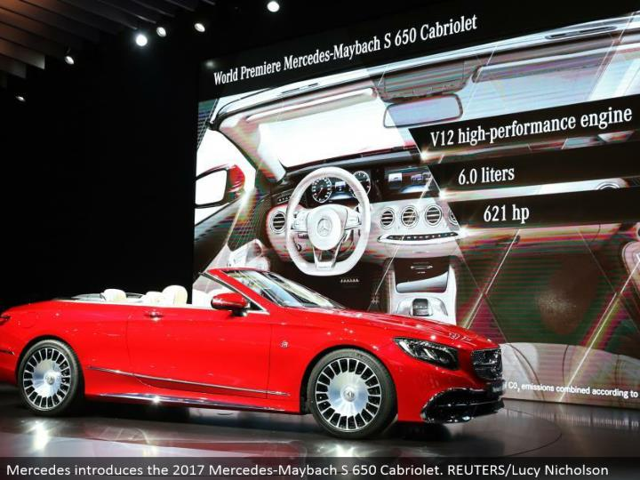 Mercedes presents the 2017 Mercedes-Maybach S 650 Cabriolet. REUTERS/Lucy Nicholson