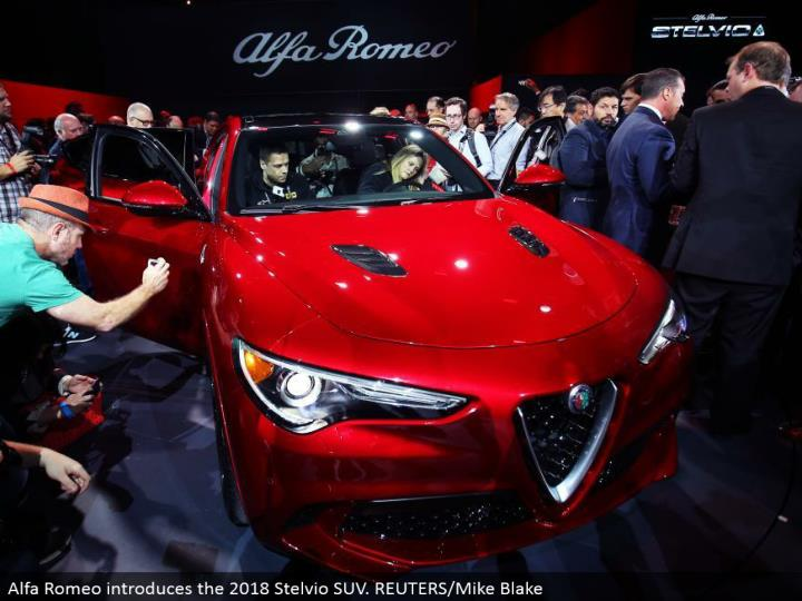 Alfa Romeo presents the 2018 Stelvio SUV. REUTERS/Mike Blake