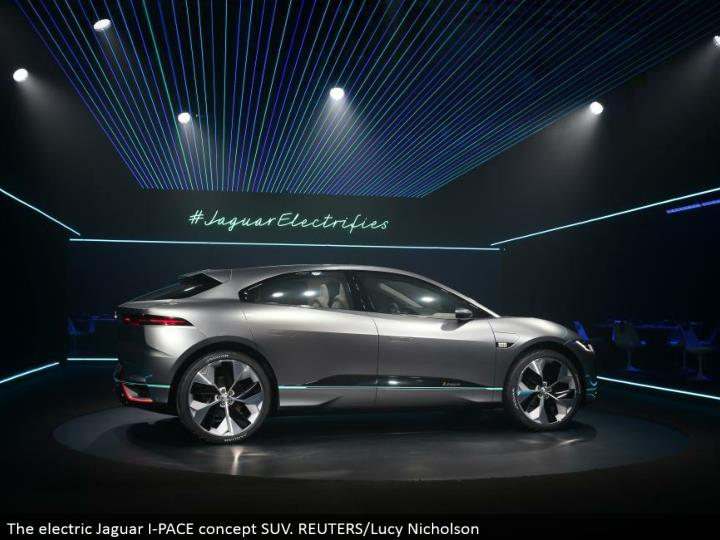 The electric Jaguar I-PACE idea SUV. REUTERS/Lucy Nicholson
