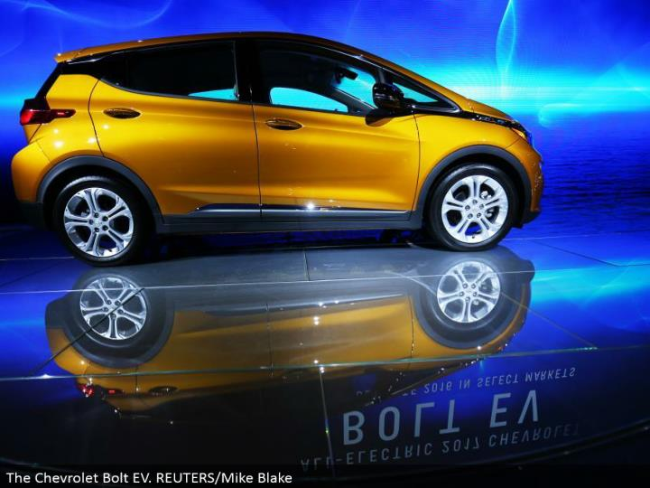 The Chevrolet Bolt EV. REUTERS/Mike Blake