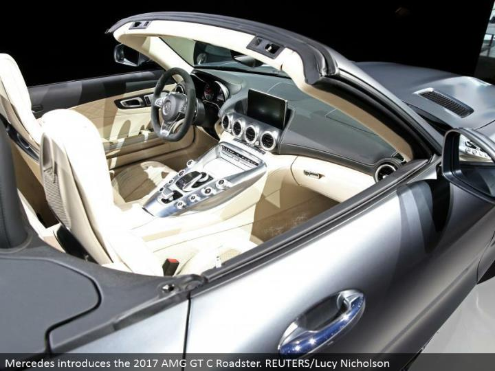 Mercedes presents the 2017 AMG GT C Roadster. REUTERS/Lucy Nicholson