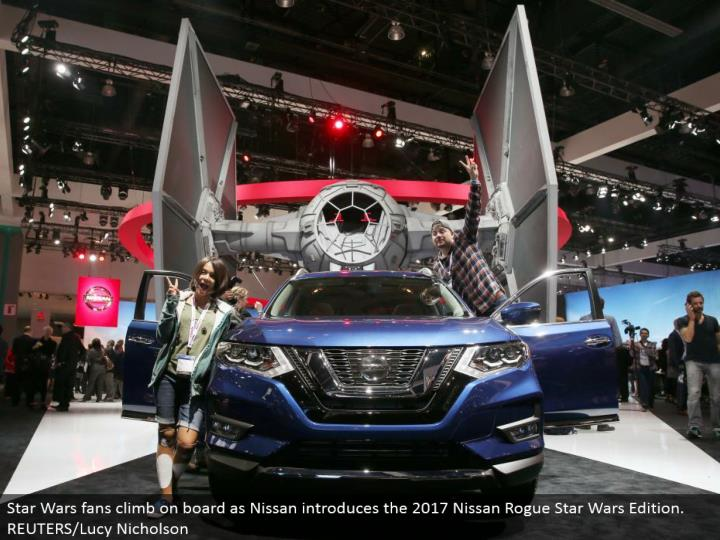 Star Wars fans jump on board as Nissan presents the 2017 Nissan Rogue Star Wars Edition. REUTERS/Luc...