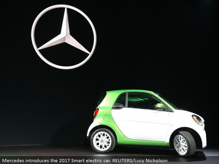 Mercedes presents the 2017 Smart electric auto. REUTERS/Lucy Nicholson