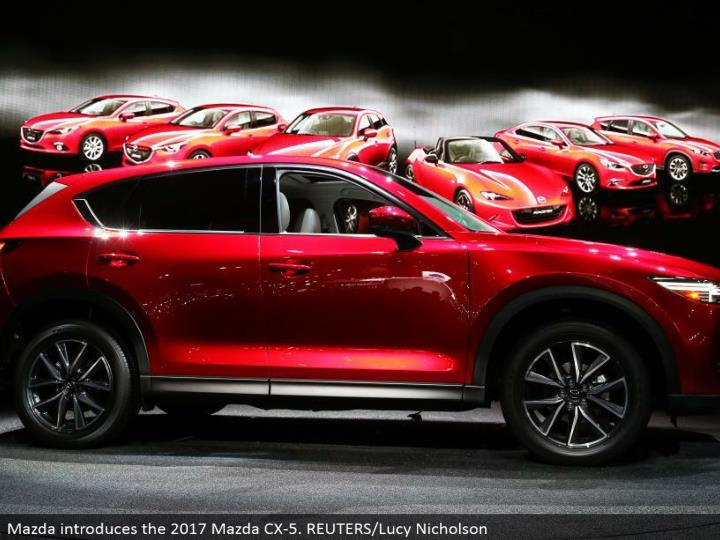 Mazda presents the 2017 Mazda CX-5. REUTERS/Lucy Nicholson