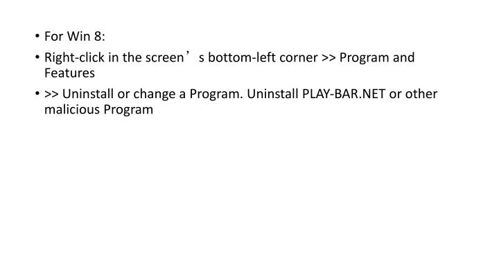 For Win 8: