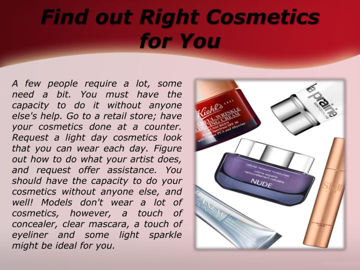 Find out Right Cosmetics for You