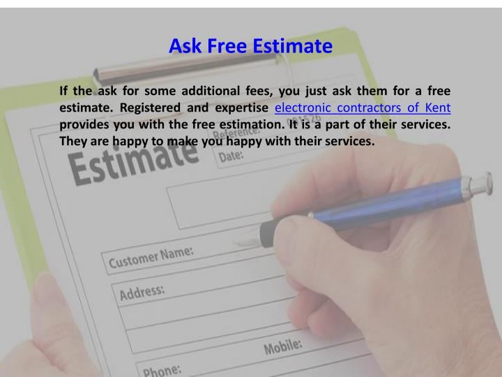 Ask Free Estimate