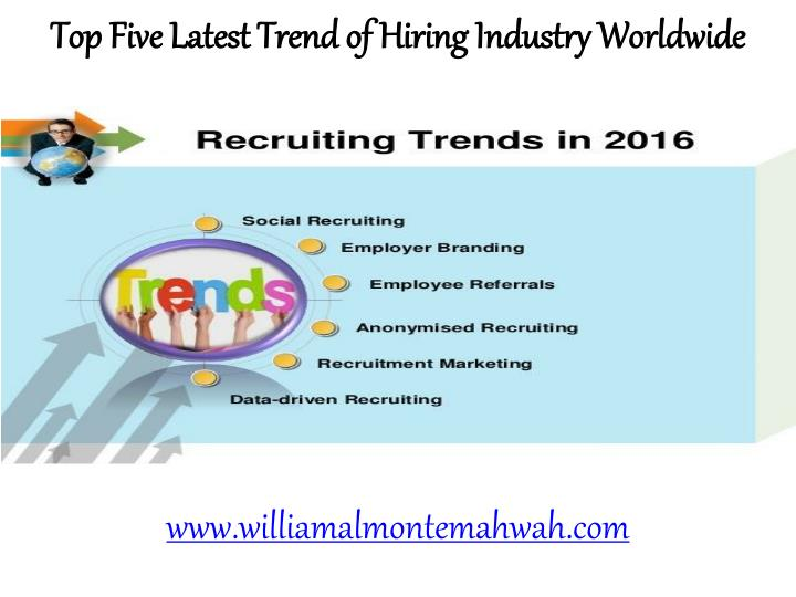 Top Five Latest Trend of Hiring Industry Worldwide