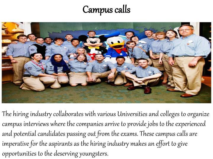 Campus calls
