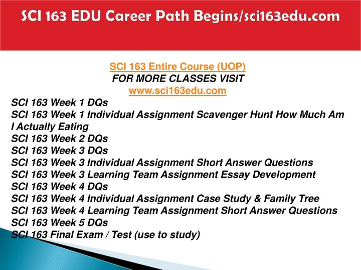 Sci 163 edu career path begins sci163edu com1