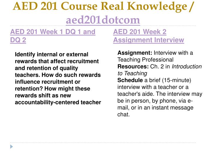 Aed 201 course real knowledge aed201dotcom2