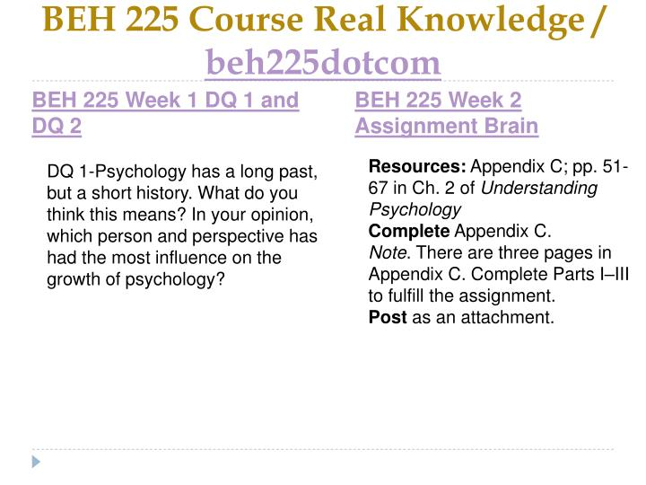Beh 225 course real knowledge beh225dotcom2
