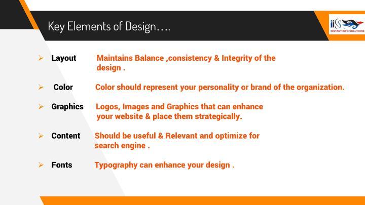 Key Elements of Design….
