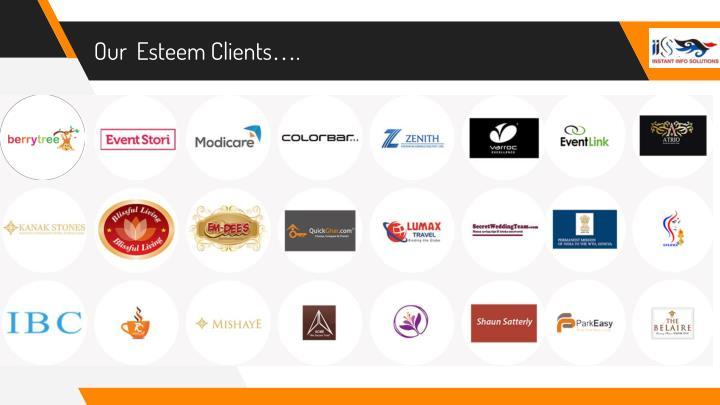 Our  Esteem Clients….