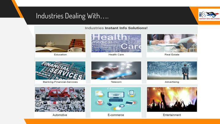 Industries Dealing With….