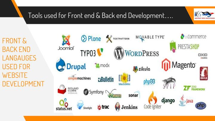 Tools used for Front end & Back end Development….