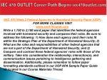 sec 470 outlet career path begins sec470outlet com4