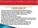 sec 470 outlet career path begins sec470outlet com9