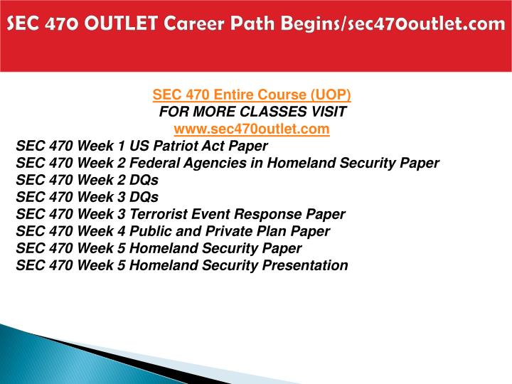 Sec 470 outlet career path begins sec470outlet com1