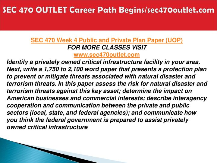 SEC 470 OUTLET Career Path Begins/sec470outlet.com