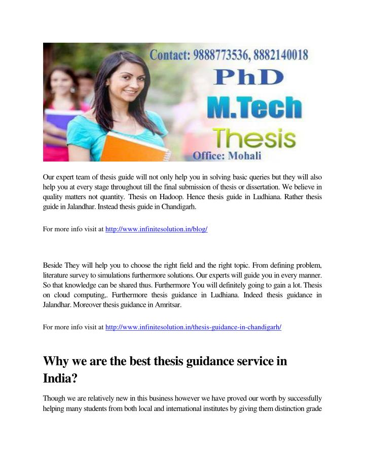 Our expert team of thesis guide will not only help you in solving basic queries but they will also