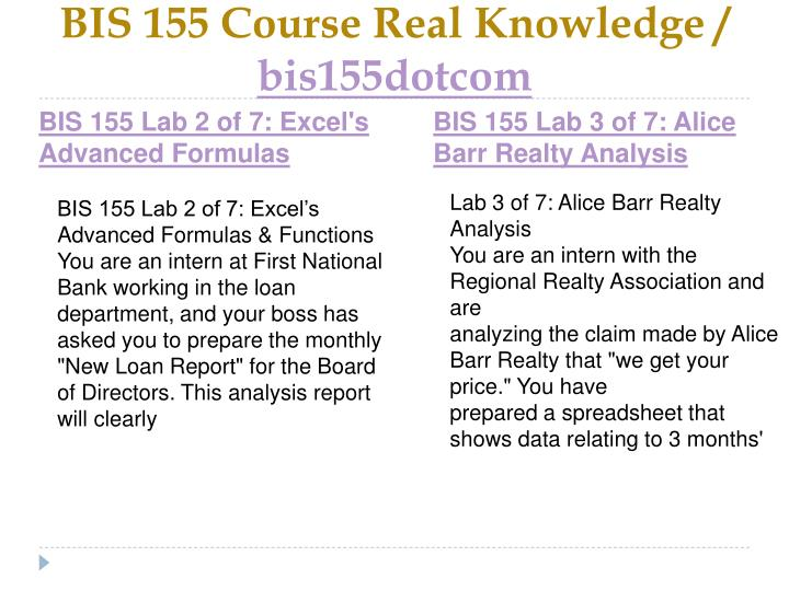 Bis 155 course real knowledge bis155dotcom2