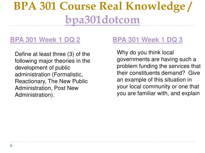 Bpa 301 course real knowledge bpa301dotcom2